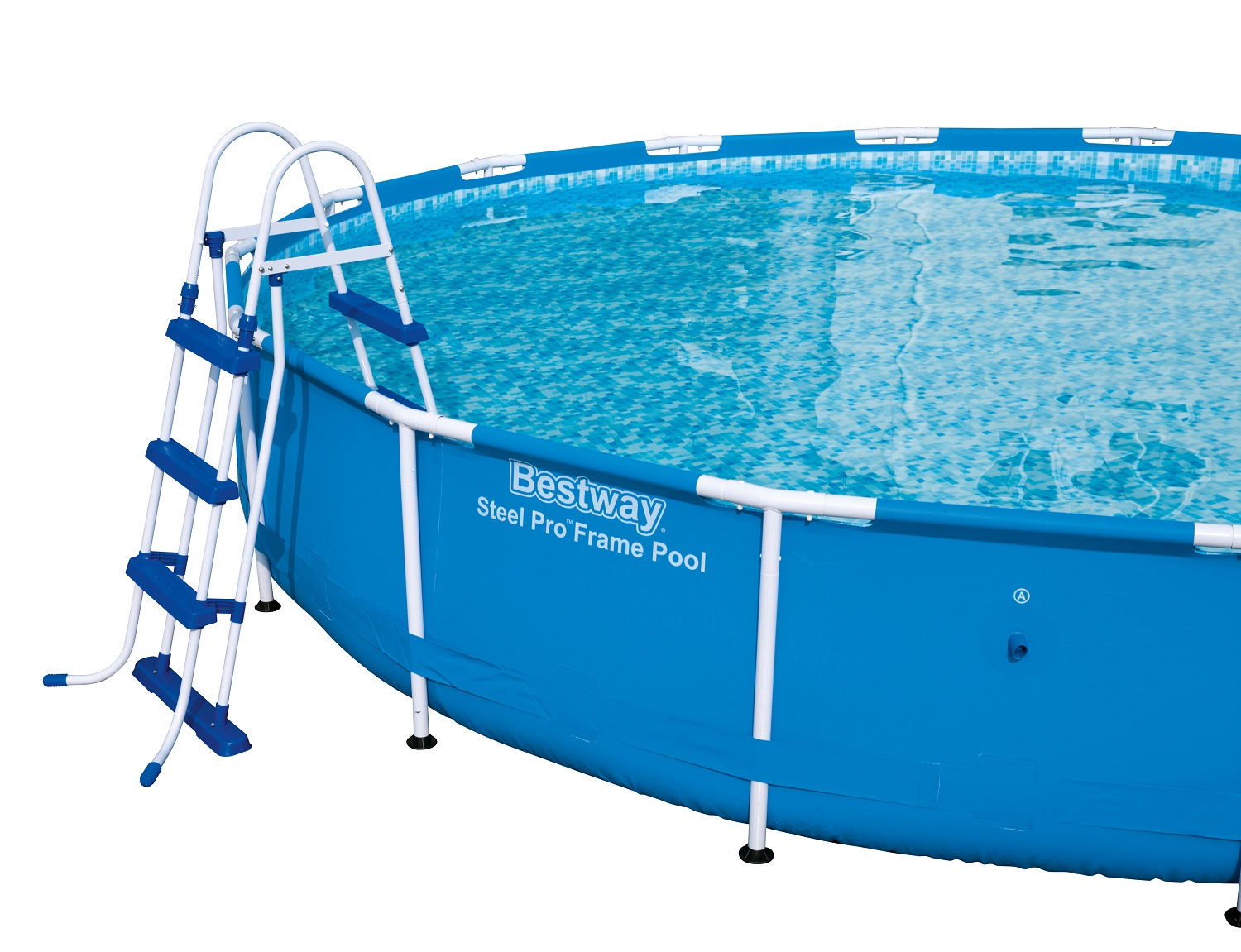 42in swimming pool ladder blue and white bestway ebay for Obi easy pool