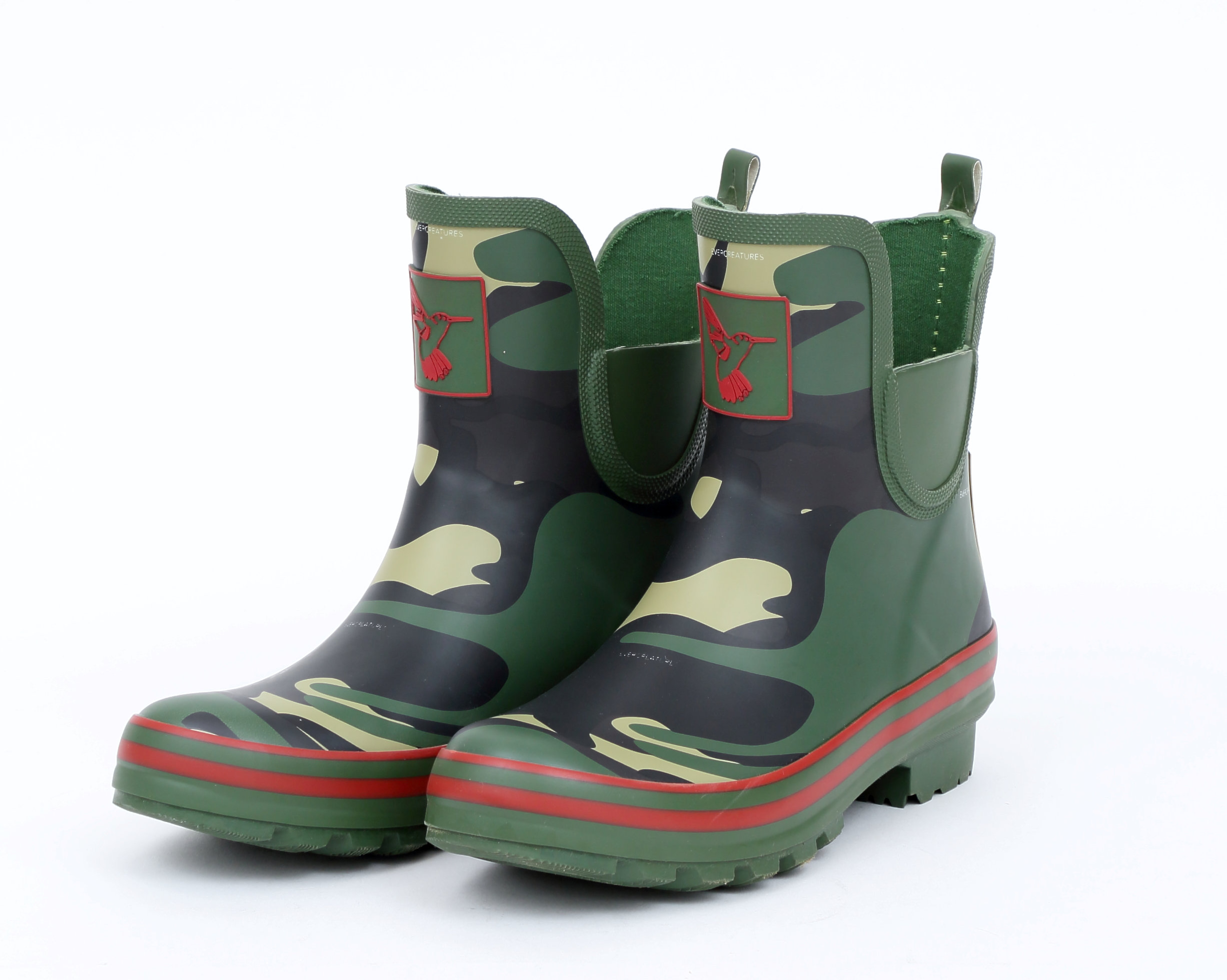 Evercreatures Damenschuhe Ankle Wellies - Bright Camo Meadow