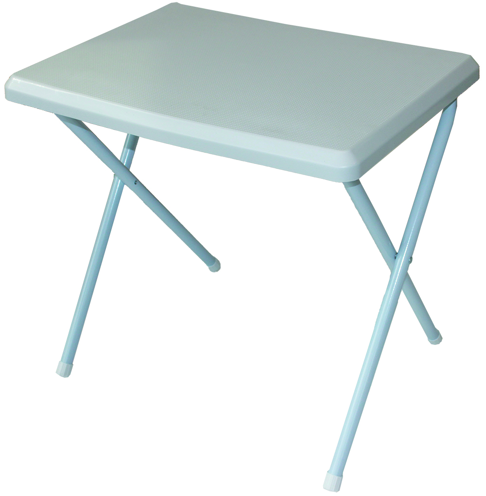 Low profile lightweight resin camping table white green for 52 folding table