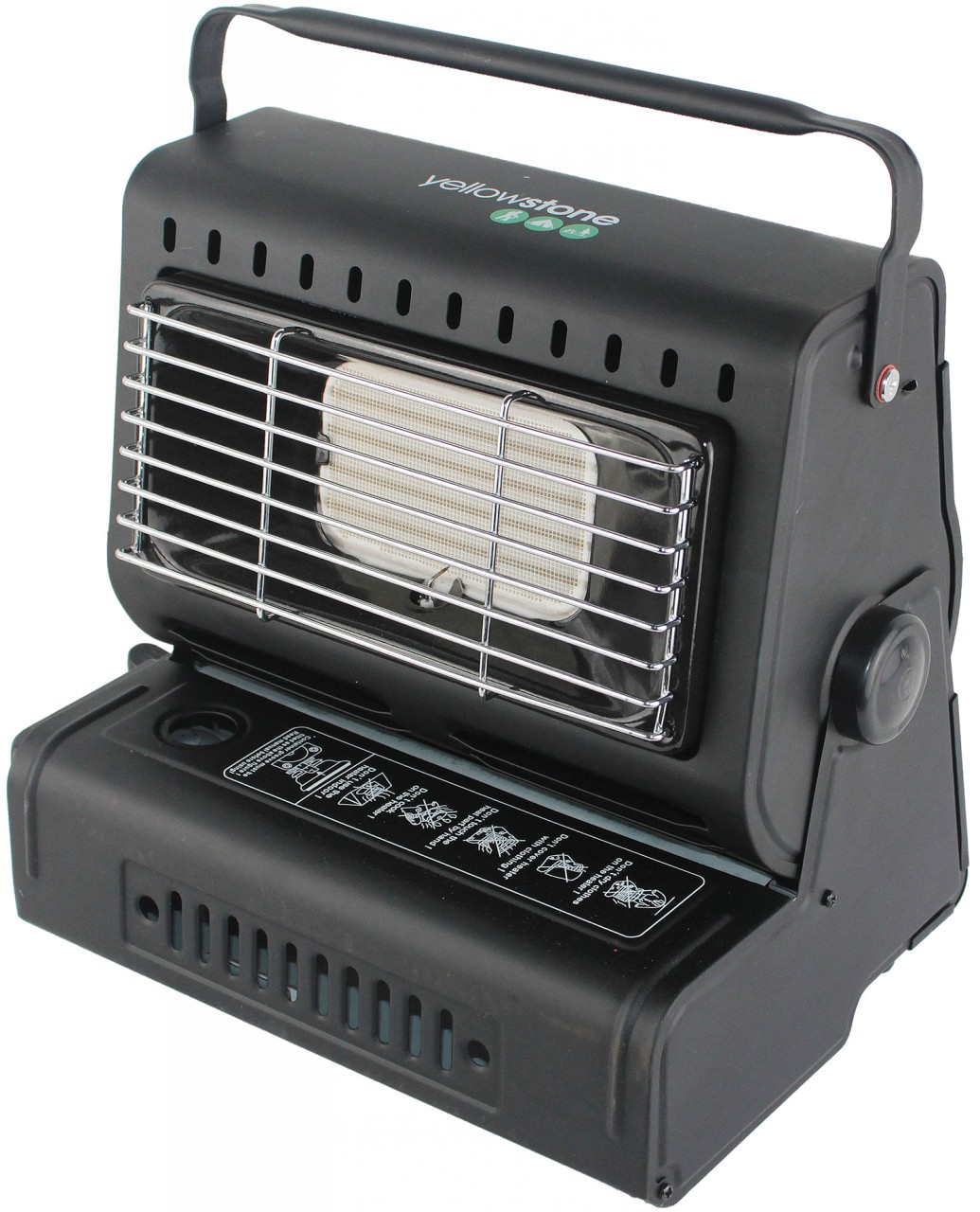 Steel Portable Gas Heater Black Efficient Ceramic