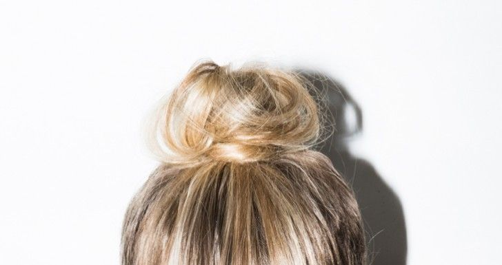 Easy Top Knot - What to do with Long Hair When Working Out