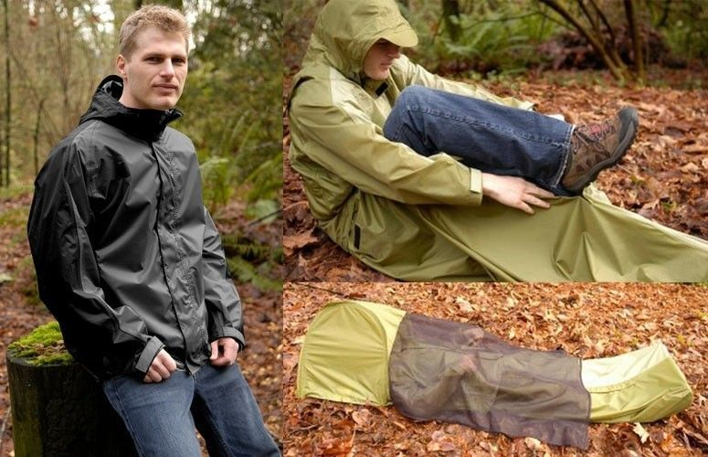 JakPak Waterproof Jacket, Sleeping Bag & Tent