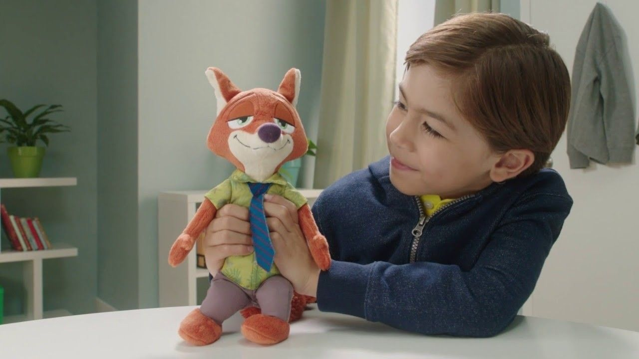Kid with soft toy