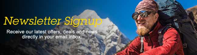 Newsletter signup - Outdoor & Camping Online Store